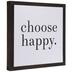 Choose Happy Wood Wall Decor