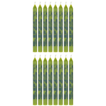 Green Camouflage Candles