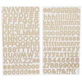 Gold Foil Dot Alphabet Stickers