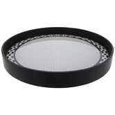 Black & White Round Hexagon Tile Wood Tray