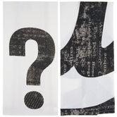 White & Black Punctuation Kitchen Towel