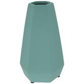 Matte Ice Green Geometric Vase