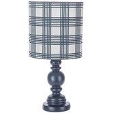 Round Navy Lamp