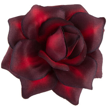 Dark Red Rose Flower Clip
