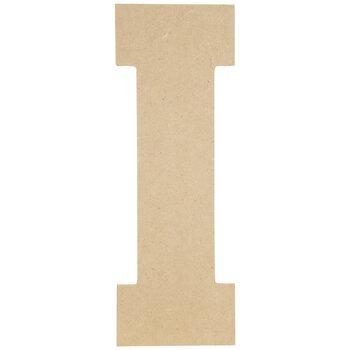 """Wood Letter I - 13"""""""