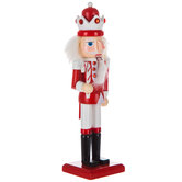 Red & White Nutcracker With Candy Cane