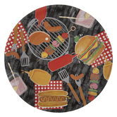 Barbecue Icons Paper Plates