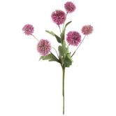Pink Thistle Pom Pom Pick