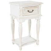 Antique White French Side Table
