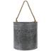 Gray Metal Wall Bucket - Large