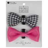 Buffalo Check & Pink Pet Collar Bow Ties