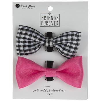 Buffalo Check & Pink Pet Collar Bow Ties