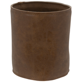 Faux Leather Flower Pot