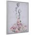 Floral Lady Canvas Wall Decor
