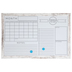 White Dry Erase Monthly Organizer Board With Wood Frame - 23