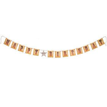 Happy Birthday Western Banner
