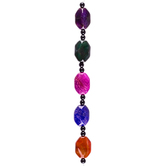 Multi-Color Dyed Agate Bead Strand