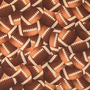 Footballs Cotton Calico Fabric