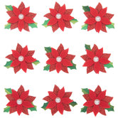 Poinsettia 3D Stickers
