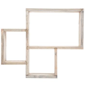 Rectangular Trio Wood Wall Shelf