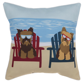 Dogs At The Beach Pillow