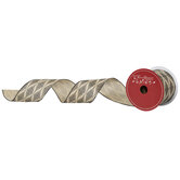 """Patterned Diamonds Wired Edge Ribbon - 2 1/2"""""""