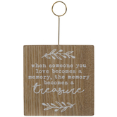 Someone You Love Wood Photo Clip