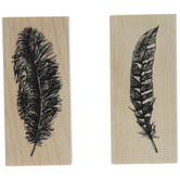 Feathers Rubber Stamps