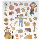 Fall Harvest Glitter Stickers