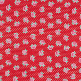 Red & Pink Floral Cotton Calico Fabric