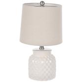 White Weave Lamp