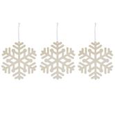 Large Wood Snowflake Ornaments