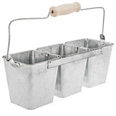 Galvanized Metal Square Connected Buckets