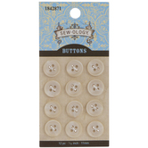Ivory Round Buttons - 11mm