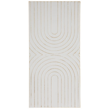 White & Gold Arches Metal Wall Decor