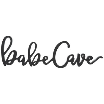 Babe Cave Wood Wall Decor
