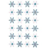 Glitter & Rhinestone Snowflakes Stickers