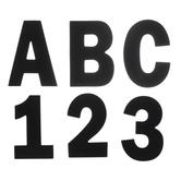 Black Alphabet Stickers - Large