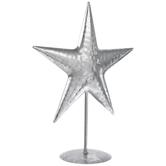 Silver Star Metal Decor