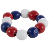 Red, White & Blue Wood Bead Napkin Ring