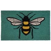 Teal Bee Doormat