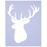Deer Head Stencil