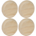 Round Wood Plaques - 4