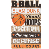 Basketball Wood Wall Decor