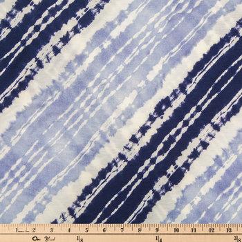 Blue Shibori Knit Fabric
