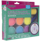 Neon Fabric Finger Paint & Roller Kit