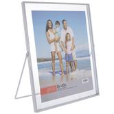 "White Metal Hinge Float Frame - 8"" x 10"""