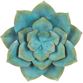 Blue Metal Flower Wall Decor - Small