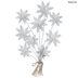 White Flower Bouquet Metal Wall Decor