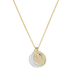 10K Gold Plated Moon Necklace